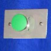 1 Green Mushroom Button on a Wall Plate (kp1_mbg)