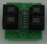 Adapter with four RJ11/14 phone Jacks (kt4xrj14a)