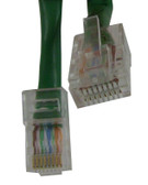 CAT-5E Cable 1 FT, Green Jacket (m8gn001f)