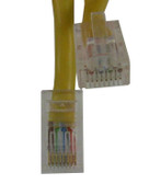 CAT-5E Cable 2 FT, Yellow Jacket (m8yl002f)