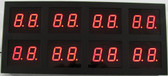 "LED Display, 8 pairs of 1"" Digits (dsp8x102b)"