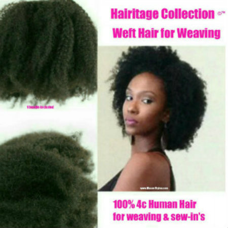 100% Human Weft Hair for weaving. Can be bleached/dyed (professional recommended). Can do wash n go's. Can treat just like your own natural hair. Minimum 2 bundles needed for a full head.
