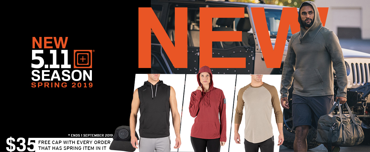 New 5.11 Tactical Spring range gym hoodies