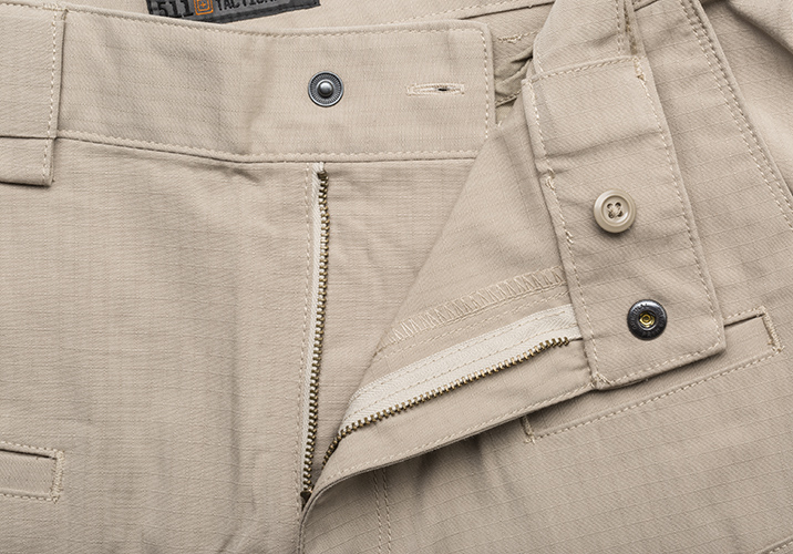 511 Stryke Pant waist band YKK zipper Prym snaps