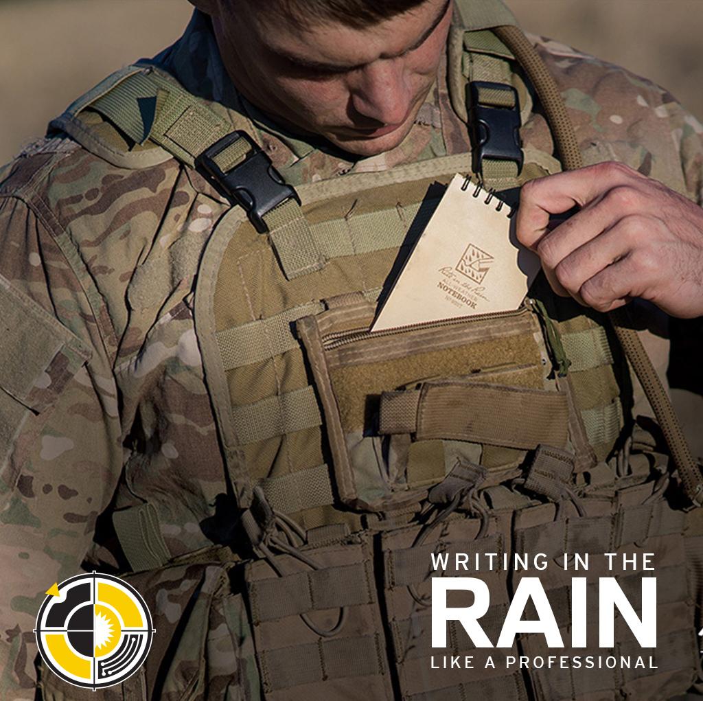 Rite in the rain. Writing in the rain like a professional.
