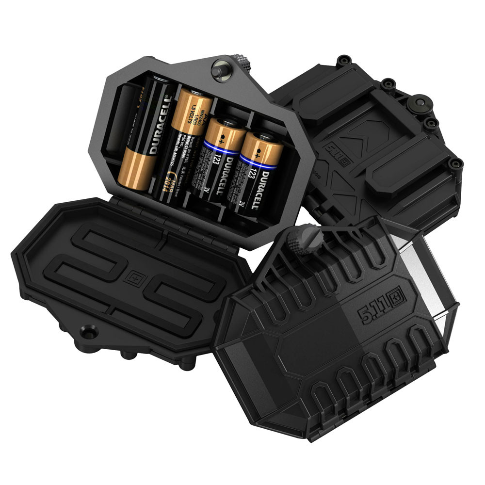 competitive price 008a5 6482a 5.11 Tactical Battery Case Black 4 x Batteries