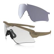 Oakley SI Ball M Frame ALPHA Terrain Tan w/Grey & Clear Lens