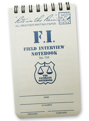 RITR Field Interview Notebook
