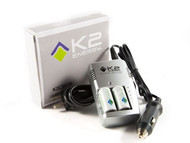 K2 K2C3V1A Smart Charger + 2 x K2123A 3.2Vdc 600mA Batteries