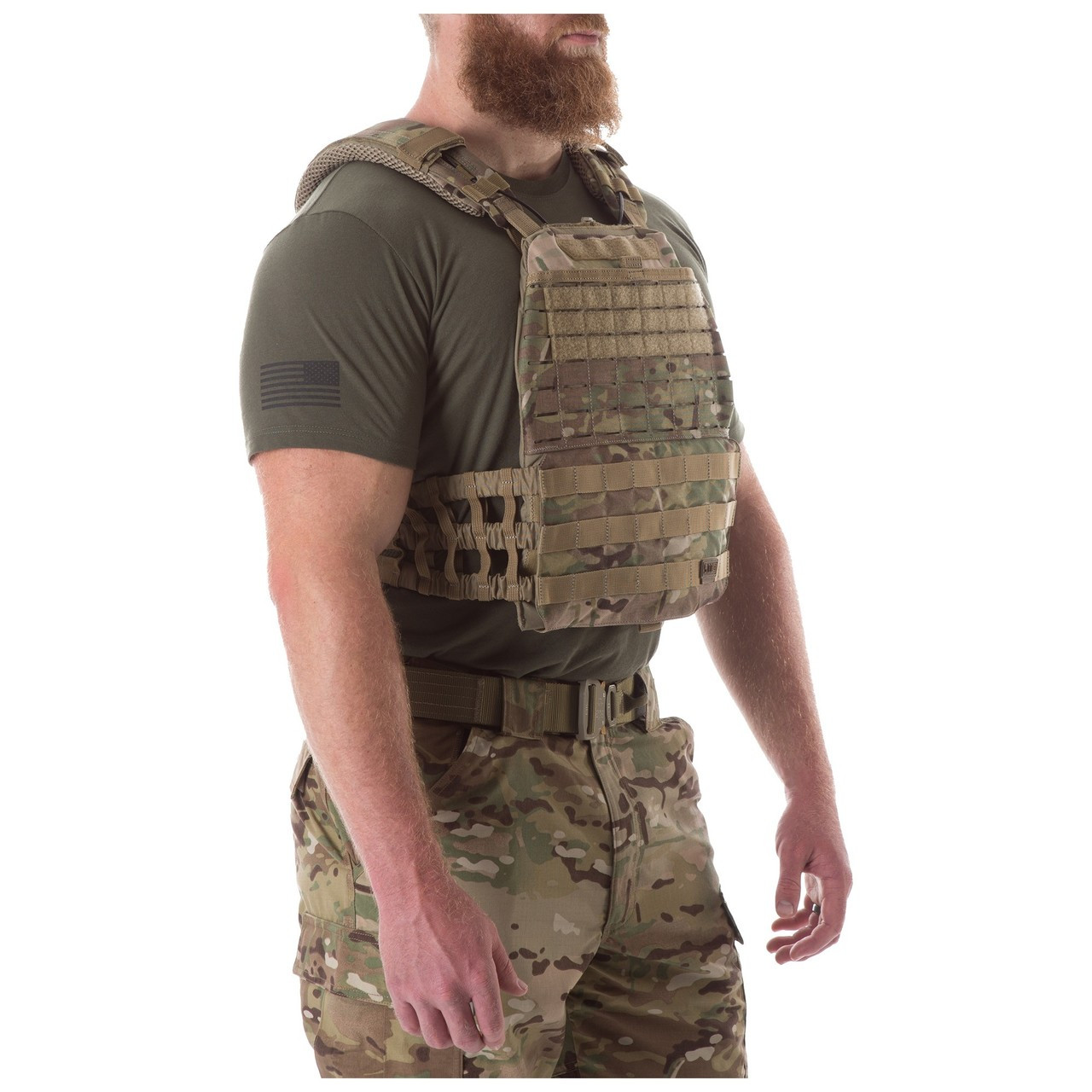 5.11 Tactical 81238-120 Hook-Back Adhesion Plate Carrier Patch Coyote