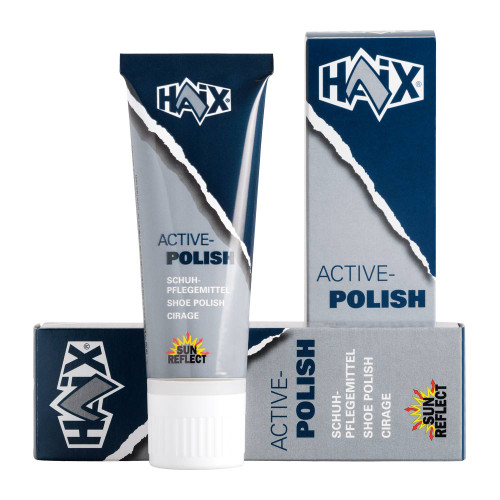 Haix Shoe polish Black 75ml - Special shoe-polish for caring and impregnating shoes made of smooth leather with membrane