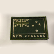 New Zealand Flag Patch Green Velcro Back