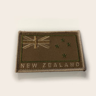 New Zealand Flag Patch Sandstone Velcro Back