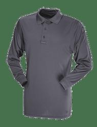 Men's L/S Performance Polo, Charcoal Grey (TSP-4504)