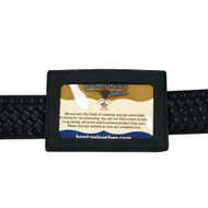 Boston Leather Horizontal ID Holder with Loop (BL-5983L-1)