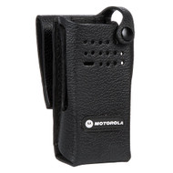 Motorola Carry Case Hard Leather 2.5inch SWL Plain (for DP4000 Series) (MTS-PMLN5843A)