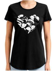 Te Kiwi Maia Female S/S Shirt Black (TKM-003-019)