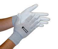 ESD Inspection Gloves, Palm Coated, Large