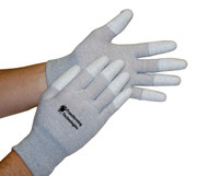 ESD Inspection Gloves, Finger Tip Coated, Large