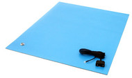 "ESD Rubber Matting MT2436, 24""x36""x0.080"" - Blue"