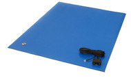 "ESD Rubber Matting MT2448, 24""x48""x0.080"" - Royal Blue"