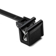 "Cable Tie and Edge Clip 40lb 6"""" EC34E Pan Thick 1.0mm - 3.0mm; PA66HS Black 500"