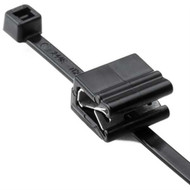 "Cable Tie and Edge Clip 30lb 5.9"""" EC4B Pan Thick .039""""-.117"""" PA66HS Black 500"
