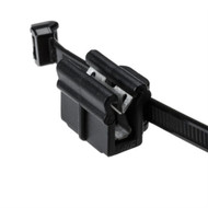"Cable Tie and Edge Clip 18lb 7.9"""" EC22 Pan Thick .039""""-.117"""" PA66HS Black 500/pk"