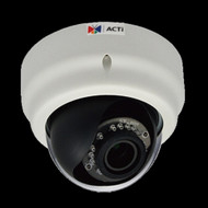 Acti 1MP Indoor Dome Camera w D N, IR, Vari-focal Lens