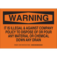 126578 Chemical & Hazardous Material Sign