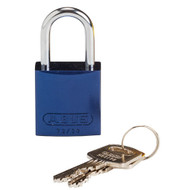 133271 Brady Compact Aluminum Padlock Blue Keyed Different