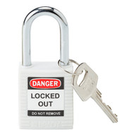 143123 White Safety Padlock
