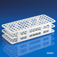 Globe Scientific 456403 Rack, Tube, 12/13mm, 90-Place, PP, White