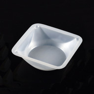 Globe Scientific 3621 Weighing Boat, Plastic, Square, Antistatic, 89 x 89 x 25mm, PS, White, 100mL