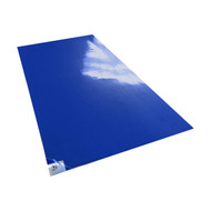 "36"" X 45"" TACKY MAT, 30 SHEETS/MAT, 4 MATS/CASE,  BLUE, WHITE, GREY, 18lbs"