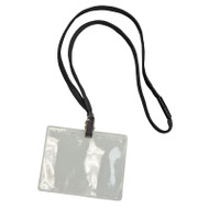 BADGE HOLDER & LANYARD KIT, BLACK, 25 PACK