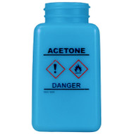 BOTTLE ONLY, BLUE, HCS LABEL, ACETONE PRINTED, 6 OZ