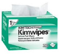 KIMWIPES DELICATE TASK WIPERS--Single Ply, 196 wipes per box