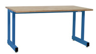 "Dewey Series Workbenches, 1 3/4"" Maple Oil Top -  32""H, Std Blue Frame"