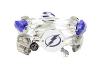 Women's Tampa Bay Lightning Bourbon & Boweties 3-piece Silver Bracelet