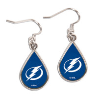 Tampa Bay Lightning WinCraft Teardrop Logo Earrings