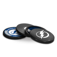 Tampa Bay Lightning Sher-Wood 4-Pack Puck Coaster Set