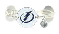 Women's Tampa Bay Lightning Bourbon & Bowties Individual Silver Bangle Bracelet