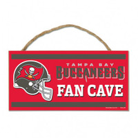 Tampa Bay Buccaneers Decorative WoodSign W/ Rope
