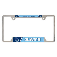 Tampa Bay Rays Metal License Plate Frame