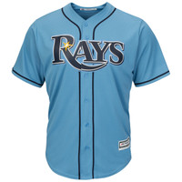 Men's Tampa Bay Rays Majestic Light Blue Alternate Cool Base Jersey