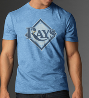 Men's Tampa Bay Rays 47' Carolina Blue Scrum Tee