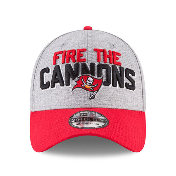 bb2733032 Men s Tampa Bay Buccaneers New Era 2018 NFL Draft Official On-Stage  39THIRTY Flex Hat - Tampa Bay Sports