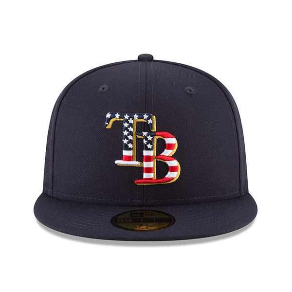 Men s Tampa Bay Rays New Era 2018 Stars   Stripes 4th of July On-Field  59FIFTY Hat - Tampa Bay Sports 26d84804e26