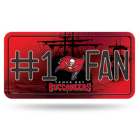 Tampa Bay Buccaneers #1 Fan Decal License Plate